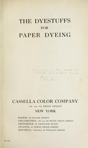 Cover of: The dyestuffs for paper dyeing