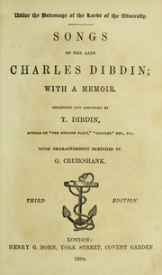 Cover of: Songs of the late Charles Dibdin |