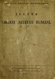 Cover of: Icones organi auditus humani