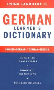 Cover of: Complete German Dictionary (LL(R) Complete Basic Courses) | Living Language
