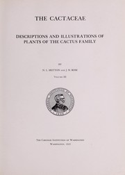 Cover of: The Cactaceae