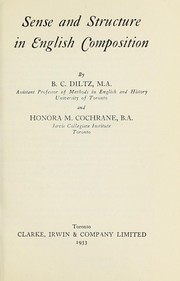 Cover of: Sense and structure in English composition