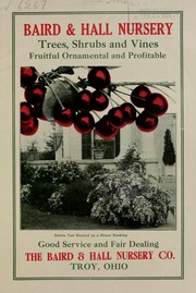 Baird & Hall Nursery trees, shrubs and vines, fruitful, ornamental and profitable