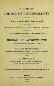 Cover of: A complete course of lithography