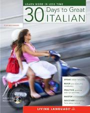Cover of: 30 Days to Great Italian (30 Days) | Living Language
