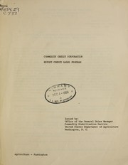 Cover of: Commodity Credit Corporation export credit sales program | United States. Commodity Stabilization Service
