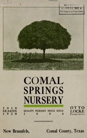 Season 1919-1920 by Comal Springs Nursery