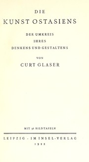 Cover of: Die Kunst Ostasiens