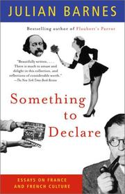 Cover of: Something to declare