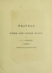 Cover of: Travels in Upper and Lower Egypt, undertaken by order of the old Government of France |