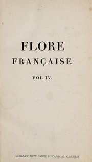 Cover of: Flore fran©ʹaise