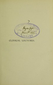 Cover of: Clinical lectures on diseases of bone