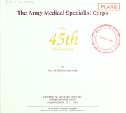 The Army Medical Specialist Corps by Ann M. Ritchie Hartwick