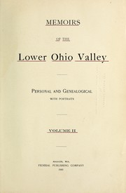 Cover of: Memoirs of the lower Ohio valley
