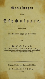Cover of: Vorlesungen ©ơber Psychologie