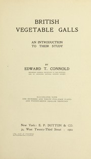 British vegetable galls by Edward T. Connold