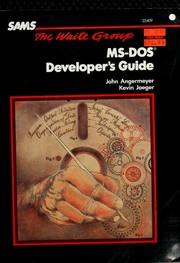 MS-DOS developer's guide