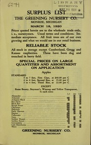 Cover of: Surplus list