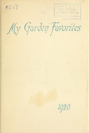 Cover of: My garden favorites | Maurice Fuld (Firm)