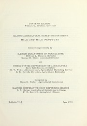 Cover of: Illinois agricultural marketing statistics | Glenn E. Fisher