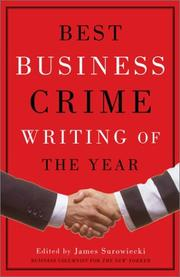 Cover of: Best Business Crime Writing of the Year