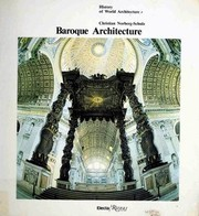 Baroque architecture by Christian Norberg-Schulz