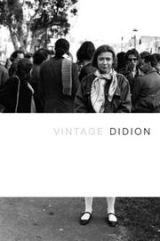 Cover of: Vintage Didion