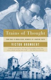 Cover of: Trains of thought | Victor H. Brombert