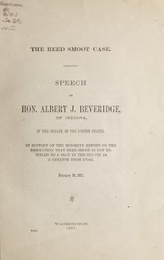 Cover of: The Reed Smoot case