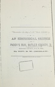Cover of: An historical sketch of Paddy