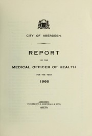 Cover of: [Report 1966] | Aberdeen (Scotland). City Council