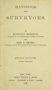 Cover of: Handbook for surveyors