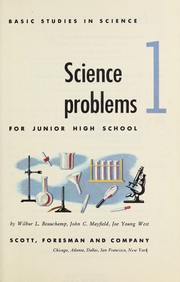 Cover of: Science problems for junior high school | Wilbur Lee Beauchamp