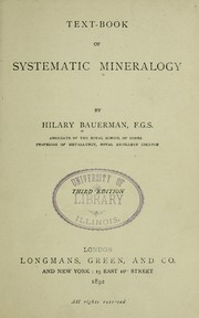 Cover of: Text-book of systematic mineralogy | Hilary Bauerman
