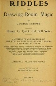 Riddles and drawing-room magic