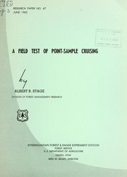Cover of: A field test of point-sample cruising | Albert R. Stage