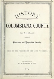 History of Columbiana county, Ohio by