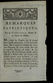 Cover of: Remarques patriotiques