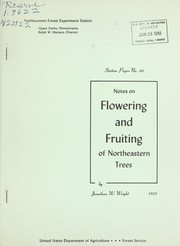 Notes on flowering and fruiting of northeastern trees