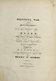 Cover of: Beautiful war | Gioacchino Rossini