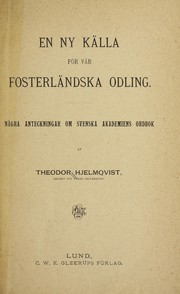 Cover of: En ny kalla for var fosterlandska Odling
