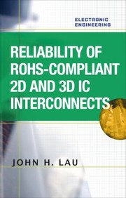 Cover of: Reliability Of Rohscompliant 2d And 3d Ic Interconnects