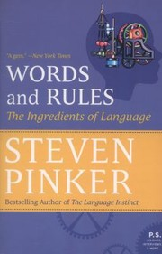 Cover of: Words And Rules The Ingredients Of Language