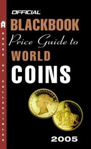 Cover of: The Official Blackbook Price Guide to World Coins 2005, 8th Edition
