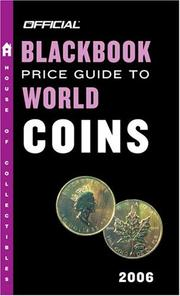 Cover of: The Official Blackbook Price Guide to World Coins 2006, Edition #9