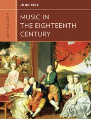 Cover of: Anthology For Music In The Eighteenth Century