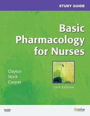 Cover of: Study Guide For Basic Pharmacology For Nurses