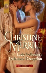 Cover of: Lady Folbrokes Delicious Deception