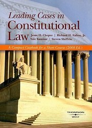 Cover of: Constitutional Law Leading Cases