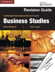 Cover of: Cambridge International As And A Level Business Studies Revision Guide